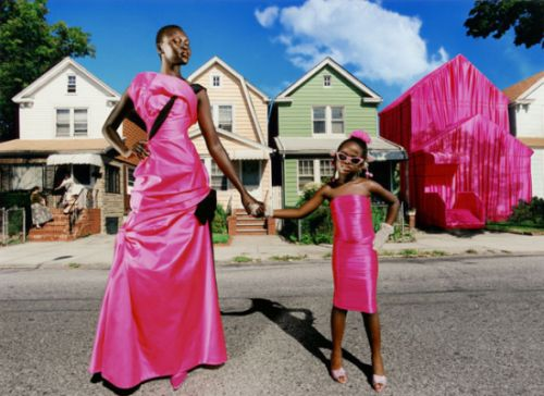 Alek Wek for Lachapelle